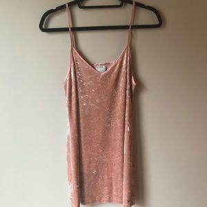 Dresses & Skirts - Pink Velvet Mini Dress